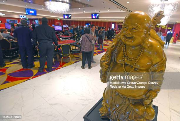 Smiling Buddha greets gamblers with luck at Larry Flynt's Lucky Lady Casino in Gardena, CA on Thursday, March 16, 2017. The casino, formerly the...