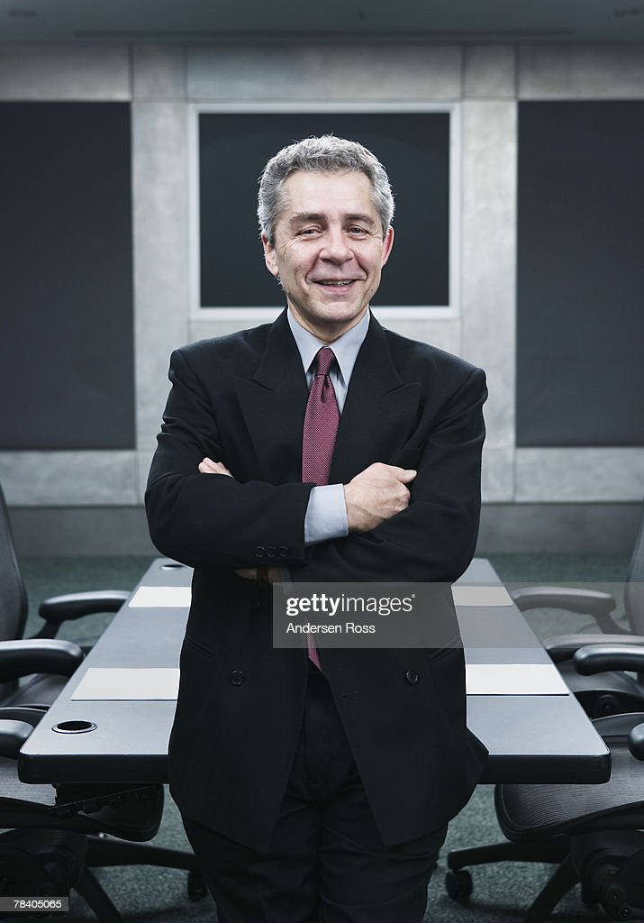 Smiling businessman : Stockfoto
