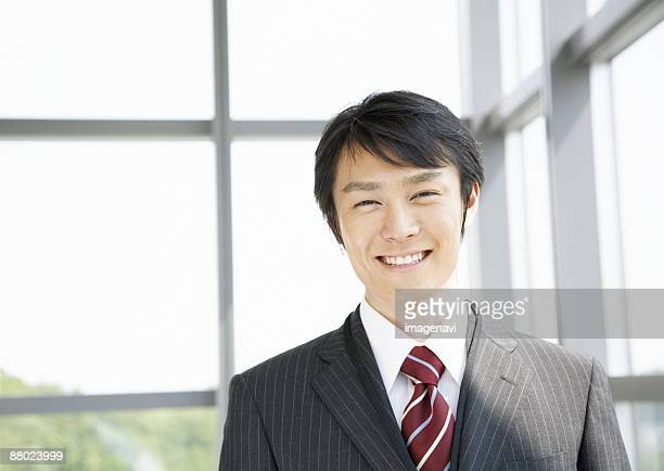 A smiling businessman