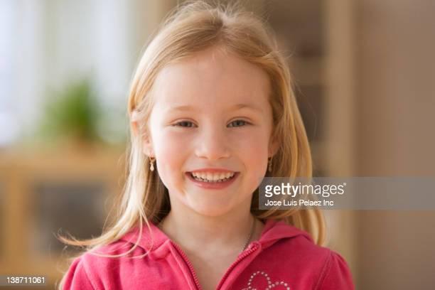 Smiling Caucasian girl