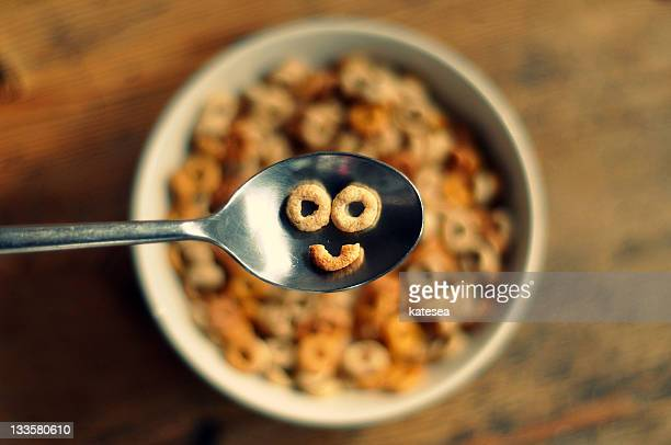 smiling cereal - smiley face stock pictures, royalty-free photos & images