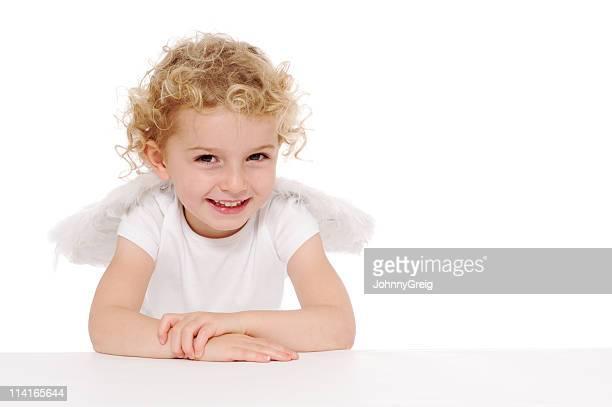 Smiling cherub angel