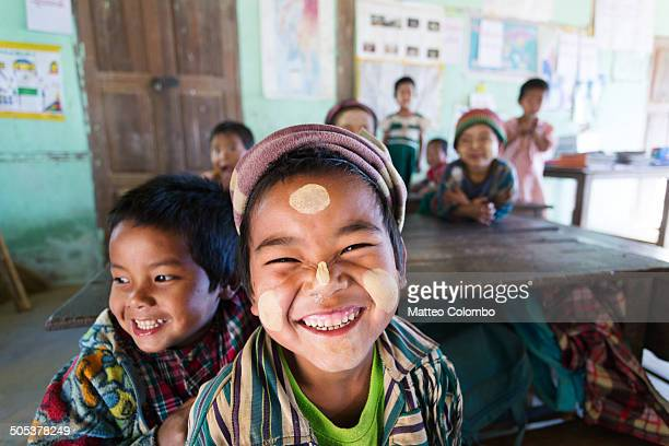Smiling children at local primary school