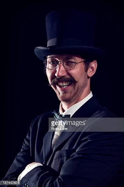 Smiling Classy Mustache Gentleman /Business Man