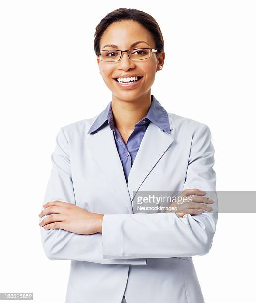 Smiling Confident Female Executive - Isolated