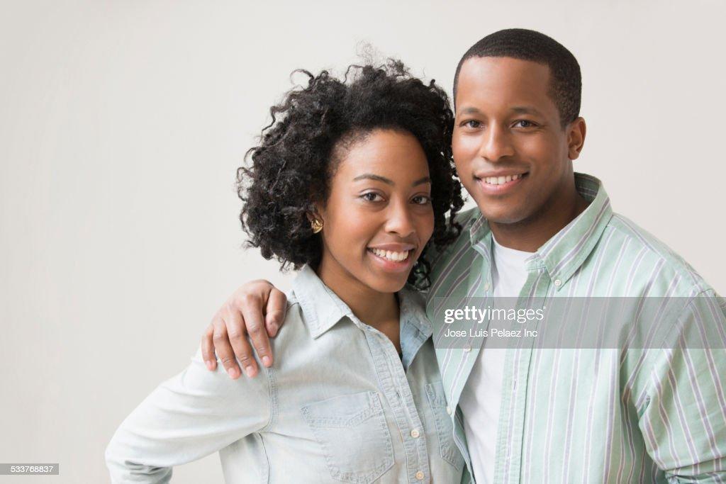Smiling couple hugging : Foto stock