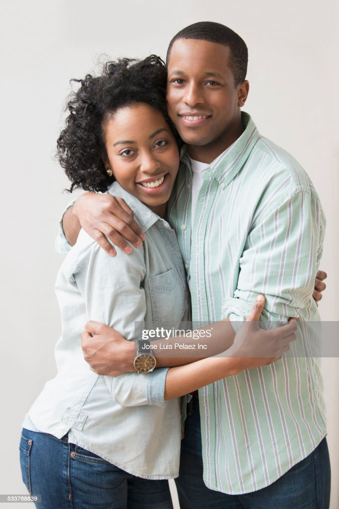 Smiling couple hugging : Foto stock