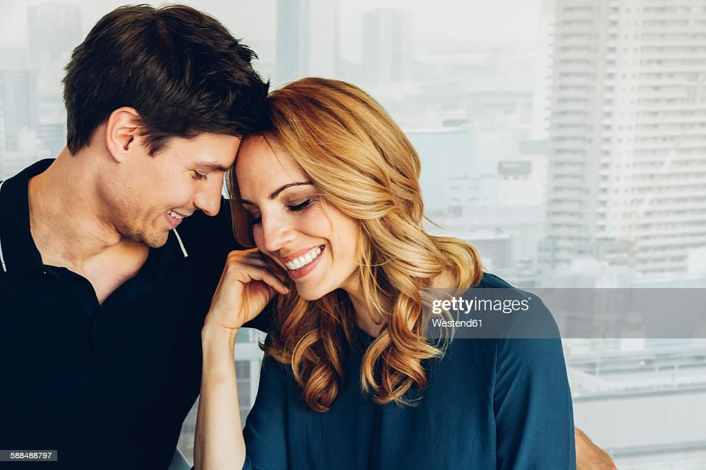 Smiling couple in love : Stock Photo