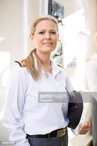 Smiling deck officer on ship