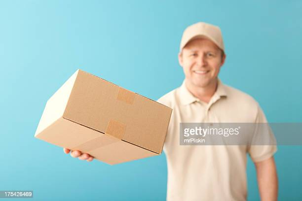 Smiling delivery person