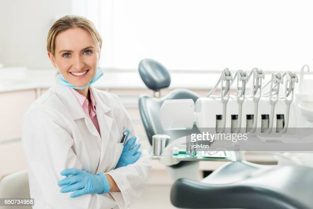 Smiling dental expert