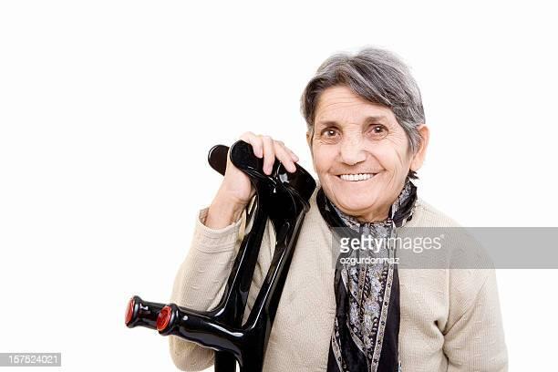 senior souriant personnes à mobilité réduite