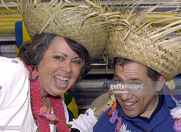 smiling face of a man and woman with disabilities. - cerebrum stock pictures, royalty-free photos & images