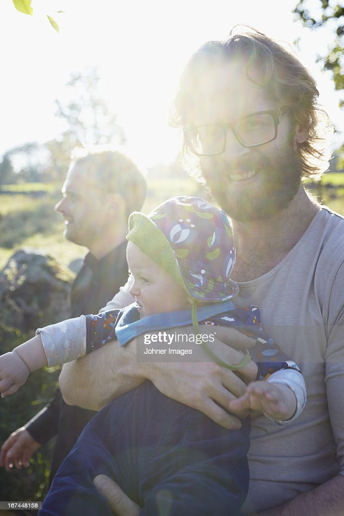 Smiling father with baby boy : Stock Photo