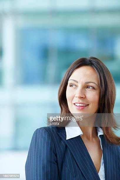 Smiling female executive at office