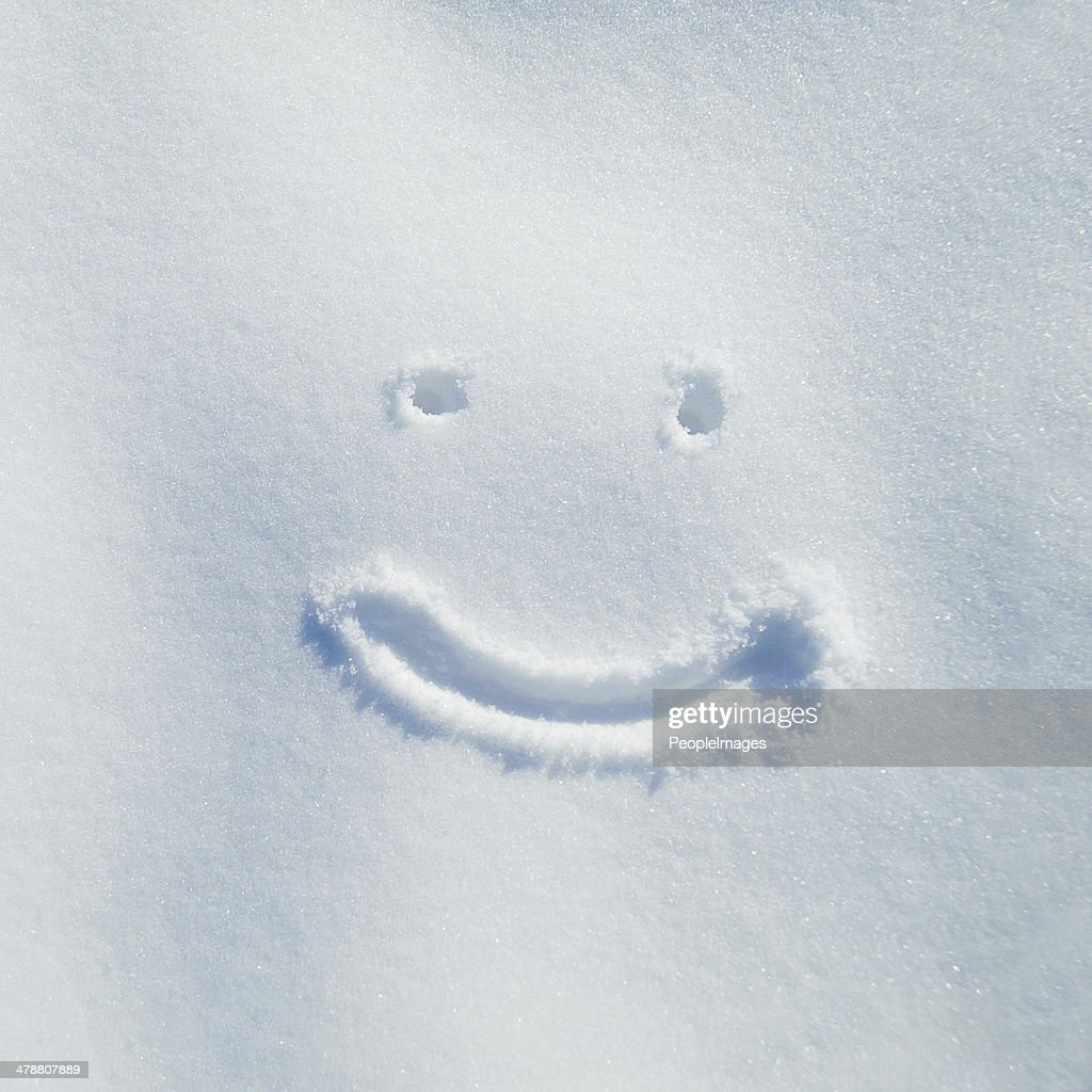 Smiling for snow day! : Stock Photo