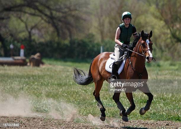 Smiling Galloping Rider