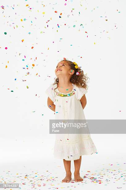 Smiling Girl and Confetti