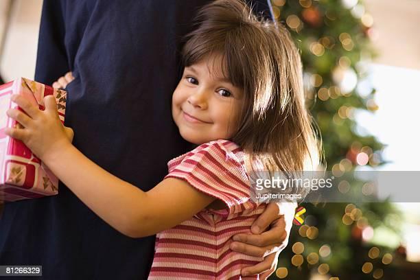 Smiling girl at Christmas