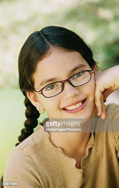 smiling girl (12-13 years), close-up - 12 13 years stock pictures, royalty-free photos & images