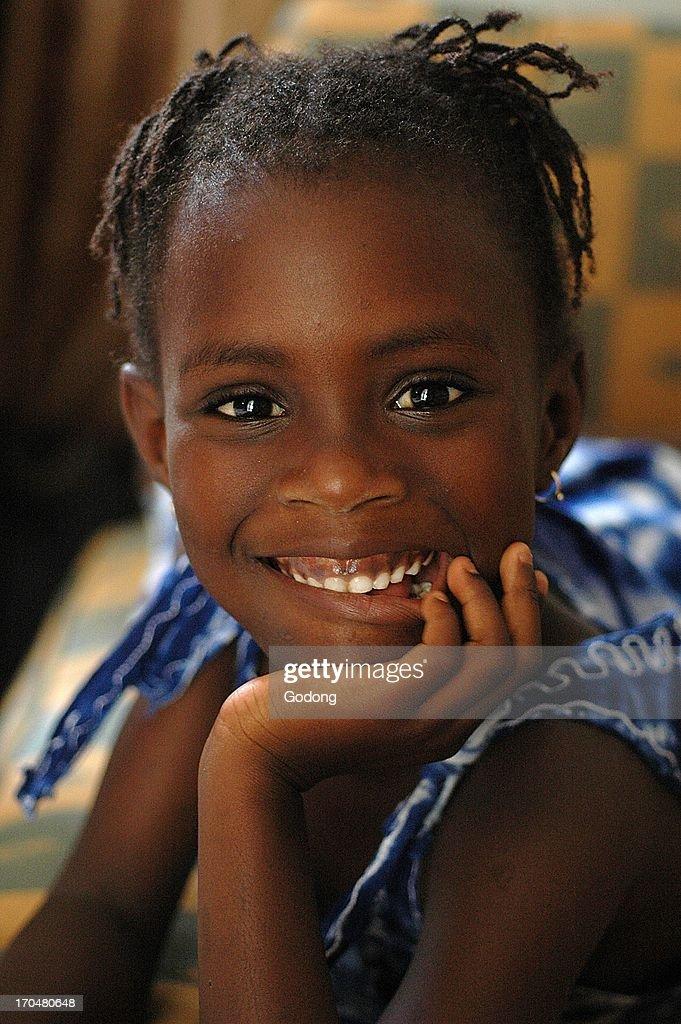 Smiling girl, Dakar, Senegal. : News Photo