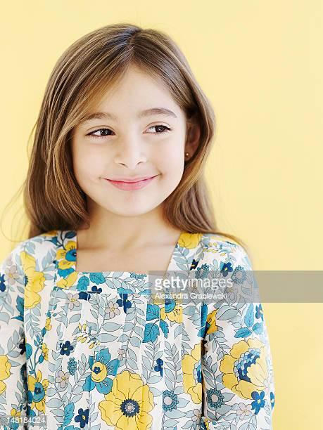 Smiling Girl Looking Sideways