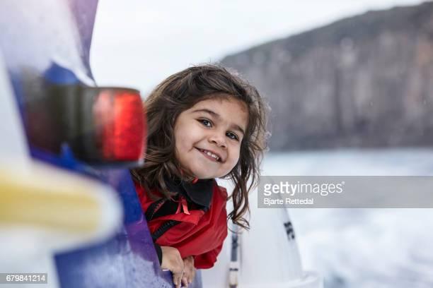 Smiling Girl on Adventure Boat