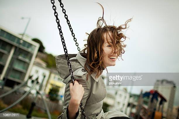 smiling girl - wellington new zealand stock photos and pictures
