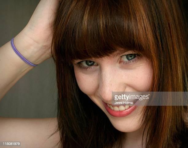 smiling girl - タンペレ ストックフォトと画像