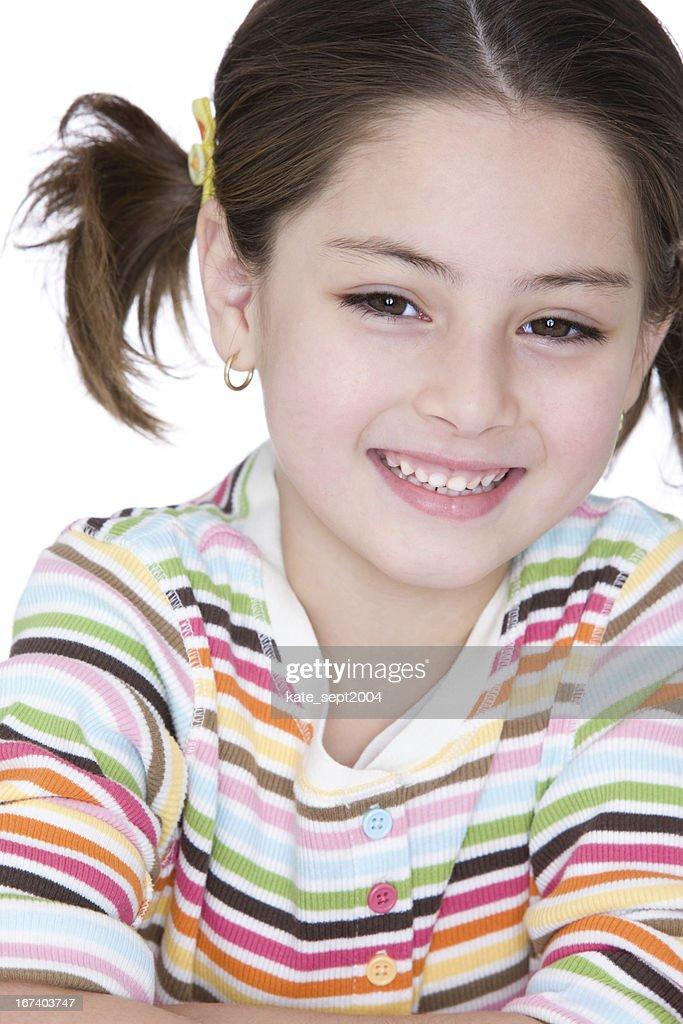 Smiling girl : Bildbanksbilder
