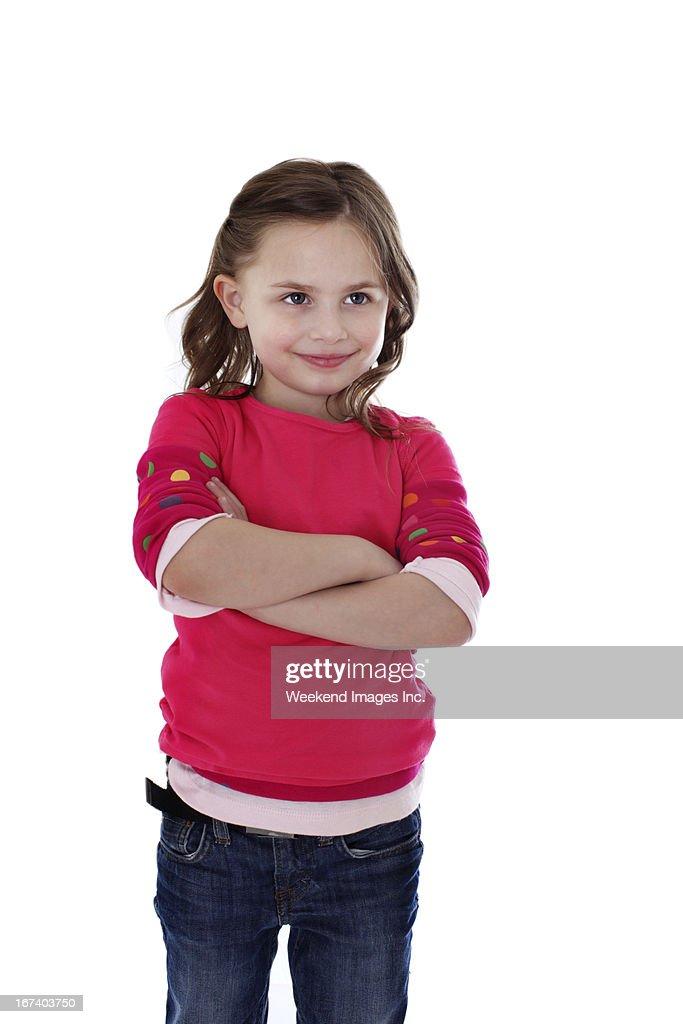 笑顔の女の子 : ストックフォト