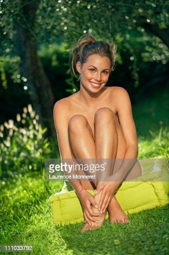Girl sitting naked