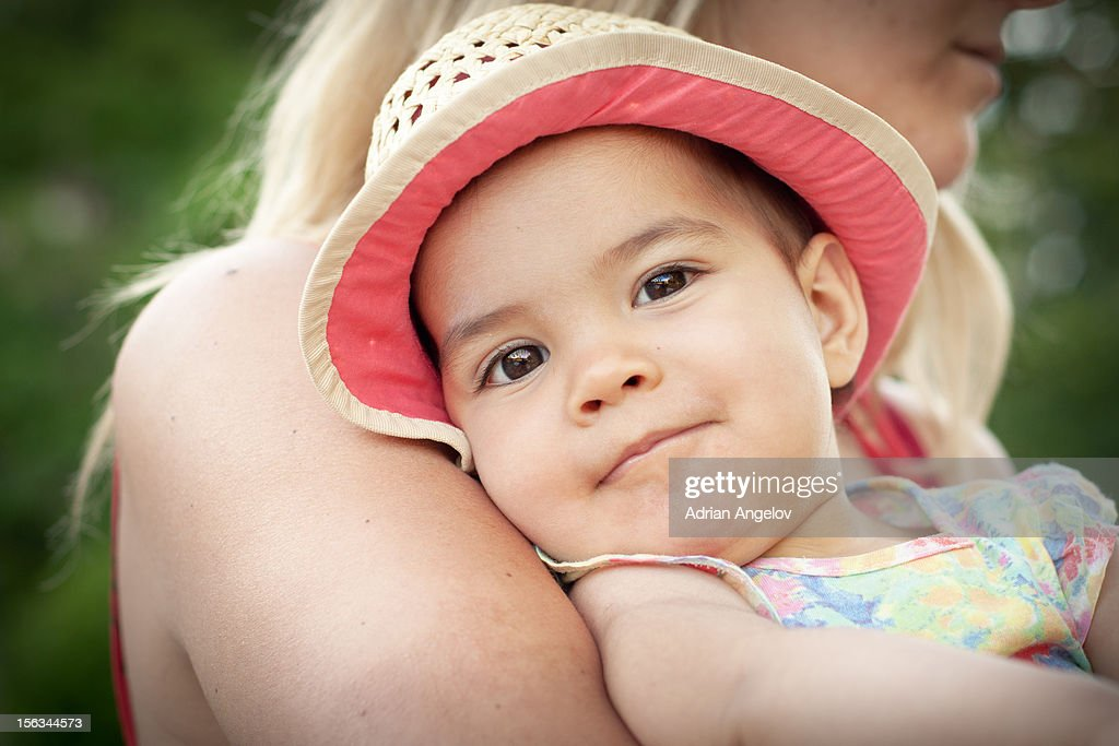 Smiling girl with hat : Stock Photo