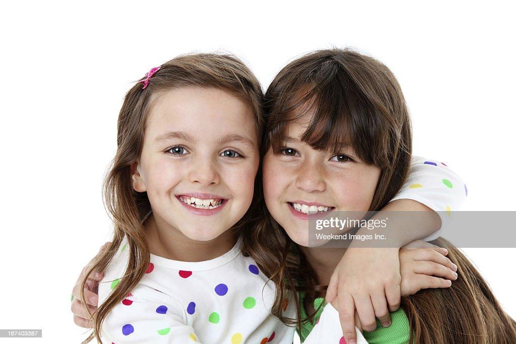 Smiling girls : Stockfoto