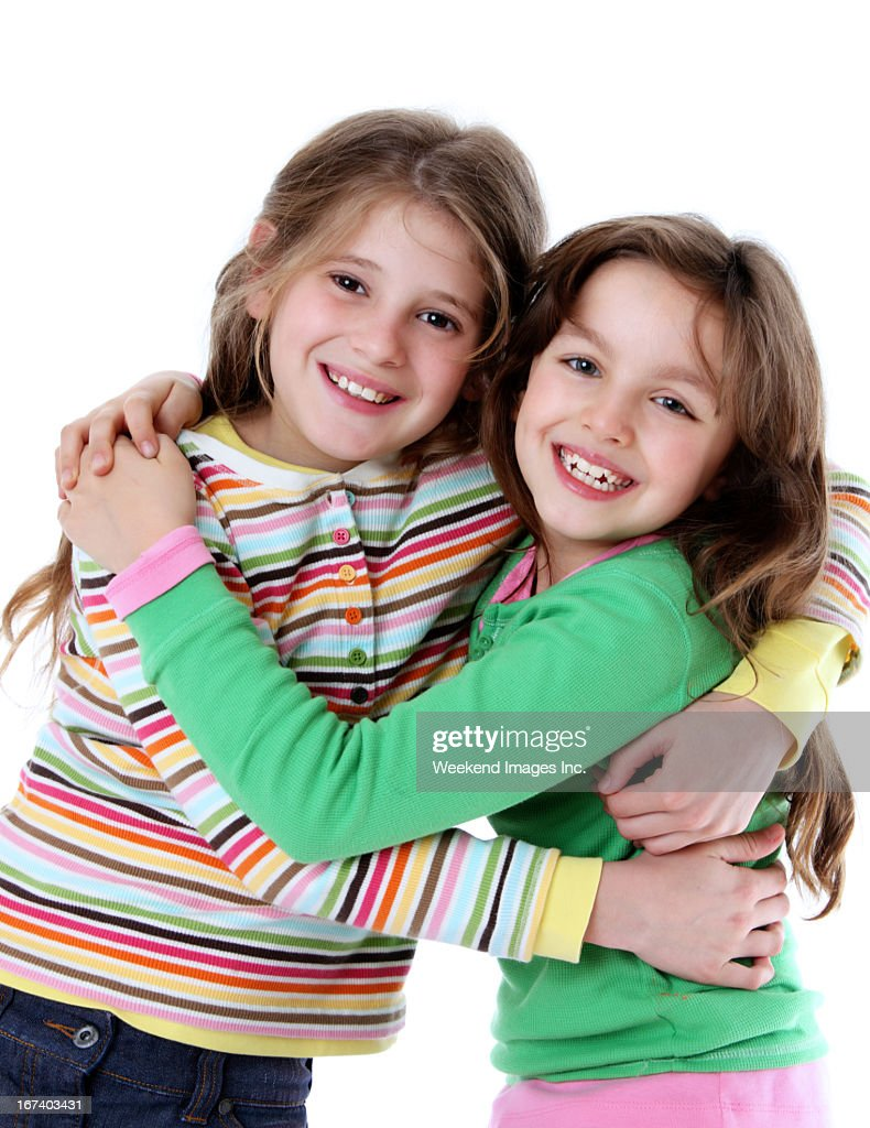 Smiling girls : Stockfoto