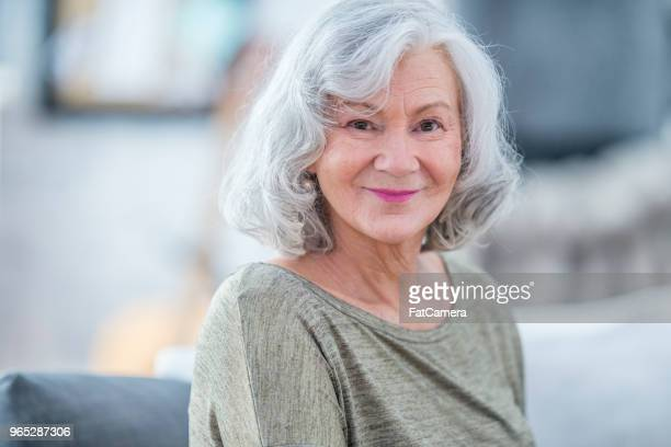 smiling grandma - fatcamera stock pictures, royalty-free photos & images