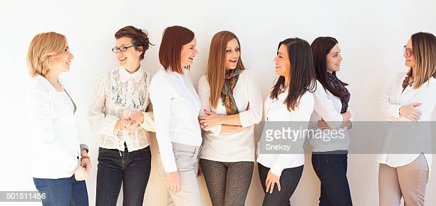 Smiling group of successful business women