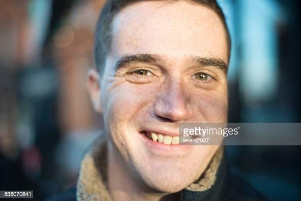 smiling handsome man