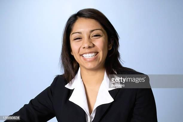 Smiling Happy Young Hispanic Businesswoman