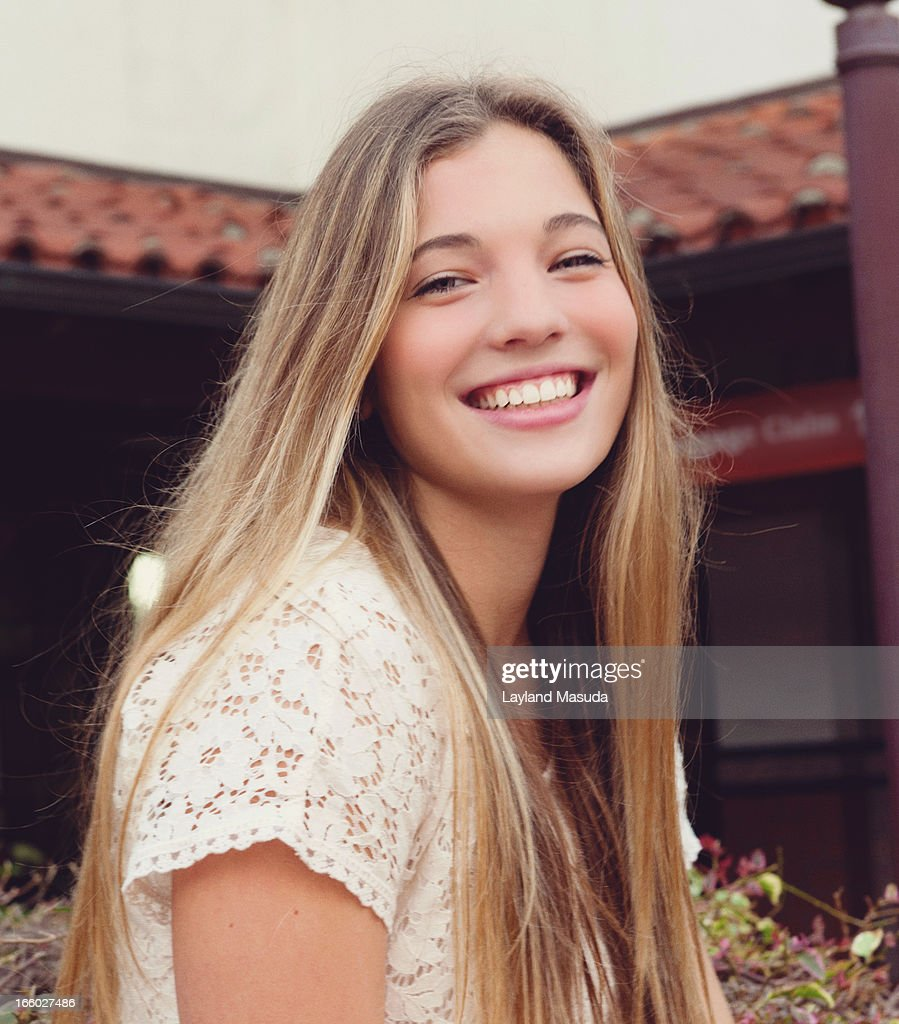 Smiling High School Girl Stock Photo  Getty Images-1399