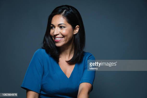 smiling hispanic businesswoman - mlenny photography stock pictures, royalty-free photos & images