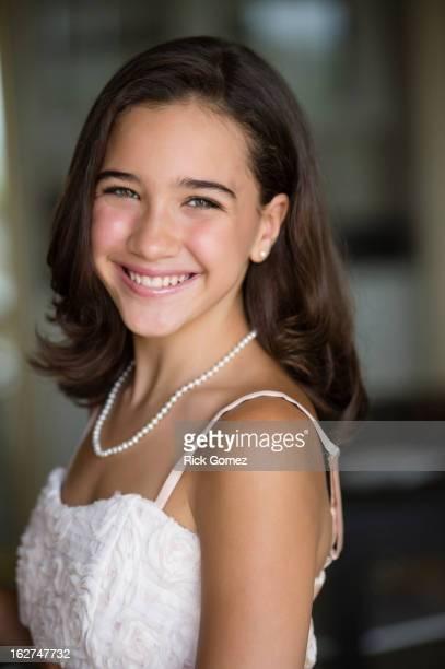 Smiling Hispanic girl