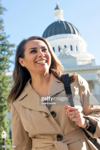Smiling Hispanic Mature Female Politician
