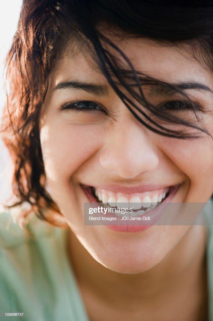 Smiling Hispanic woman : Foto de stock