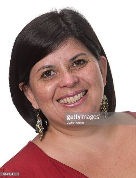 smiling hispanic woman - mid length hair stock pictures, royalty-free photos & images