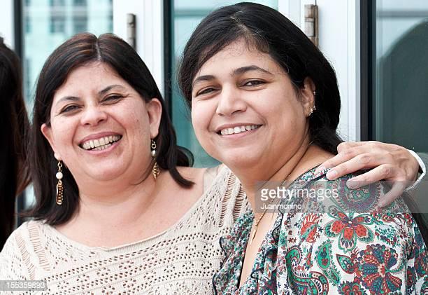smiling hispanic women