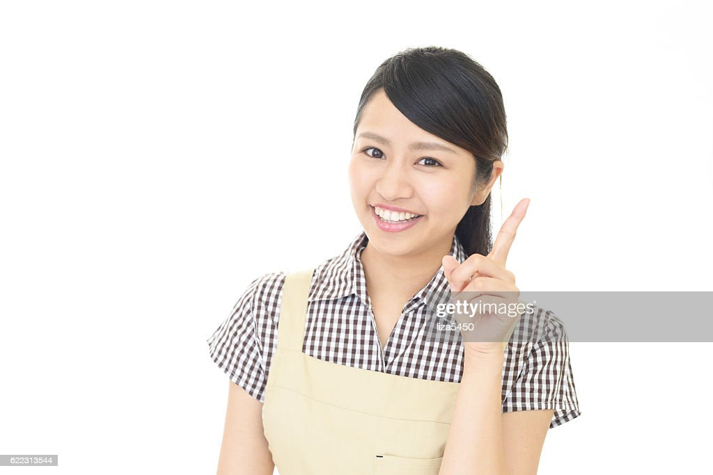 Smiling housewife : Stock Photo