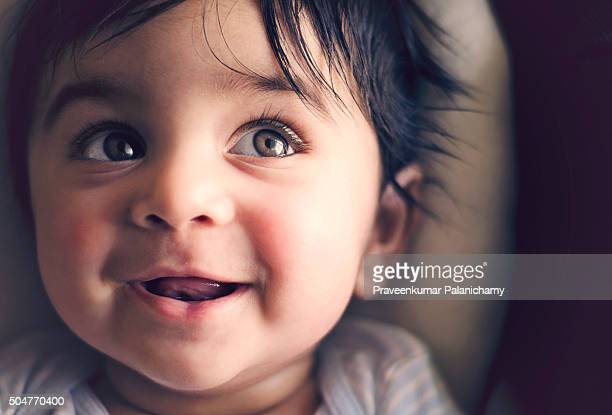 Smiling Indian baby boy