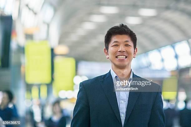 笑顔日本のビジネスマン