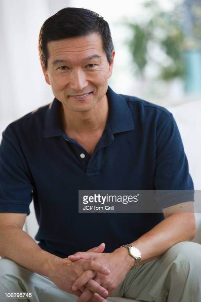 Smiling Japanese man